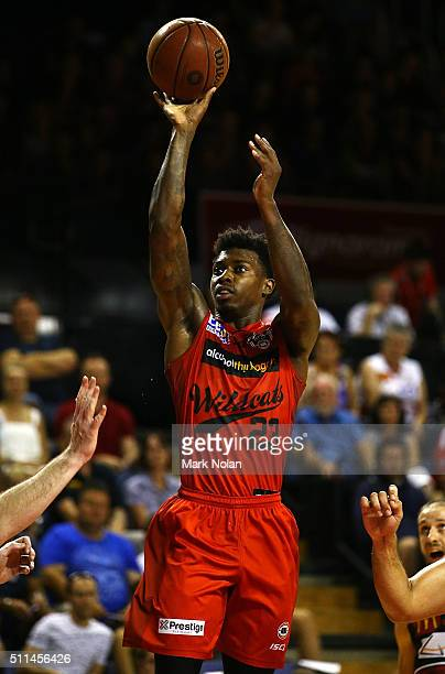 Casey Prather of the Wildcats shoots for the basket during the NBL semi final match between the Illawarra Hawks and the Perth Wildcats at Wollongong...