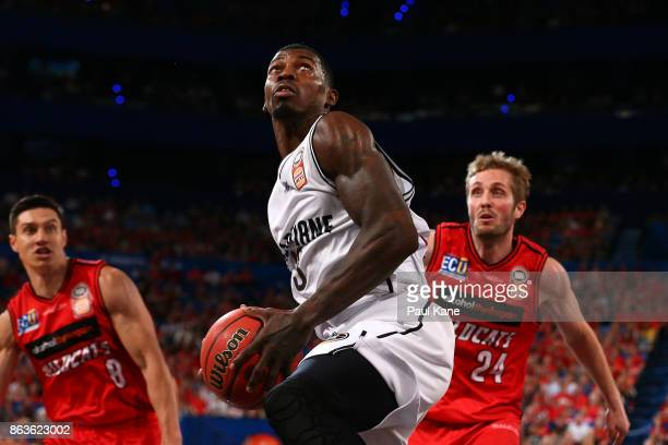 Casey Prather of United works to the basket during the round three NBL match between the Perth Wildcats and Melbourne United at Perth Arena on...