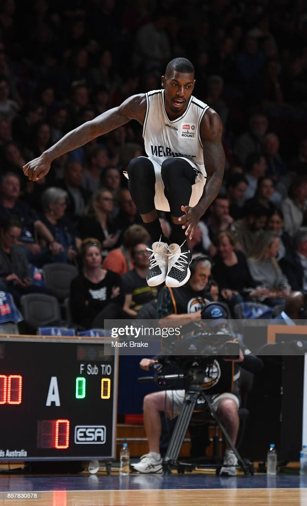 Casey Prather warms up before round one NBL match between the Adelaide 36ers and Melbourne UInited at Titanium Security Arena on October 5, 2017 in Adelaide, Australia.