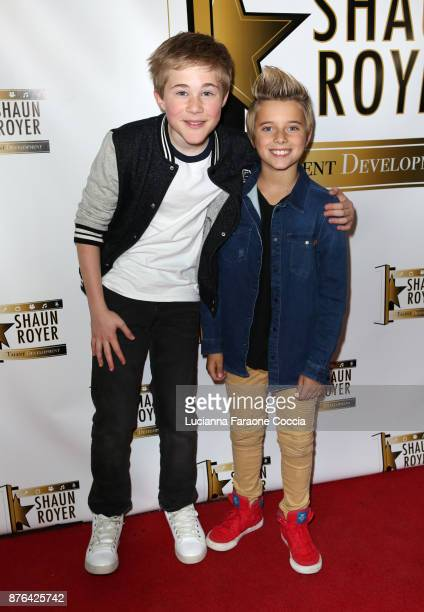 Casey Simpson and Gavin Magnus attend Gente Unidos concert for Hurricane Relief in Puerto Rico at Whisky a Go Go on November 19 2017 in West...