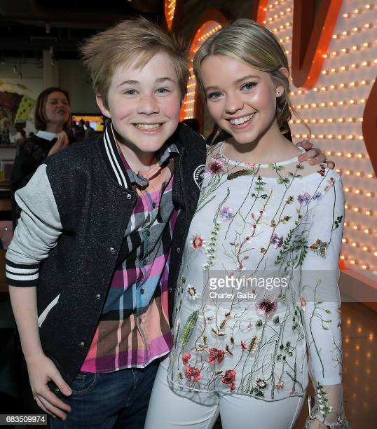 Casey Simpson and Jade Pettyjohn attend Nickelodeon's Sizzling Summer Camp Special Event on May 15 2017 in Burbank California