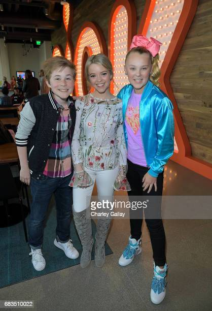 Casey Simpson Jade Pettyjohn and Jojo Siwa attend Nickelodeon's Sizzling Summer Camp Special Event on May 15 2017 in Burbank California