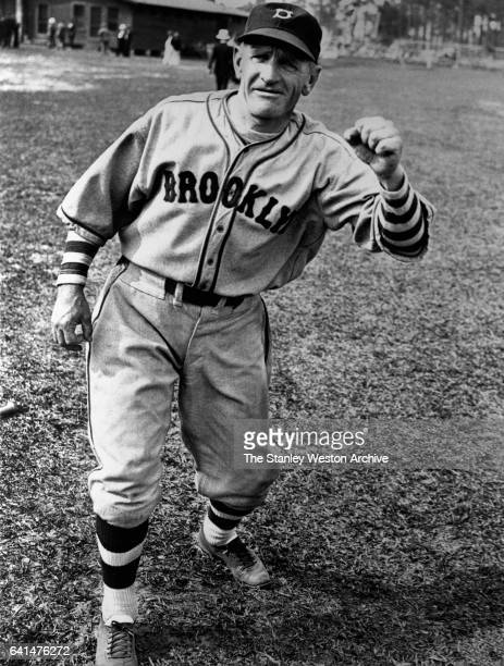 Casey Stengel Manager of the Brooklyn Dodgers at the Dodger training camp at Orlando Florida 1936