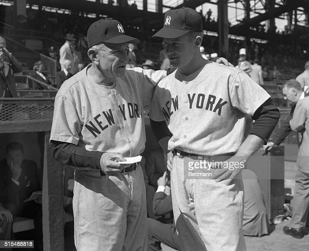 Casey Stengel with Whitey Ford Before World Series Game