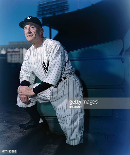 Casey Stengel Yankee baseball manager is shown in this closeup