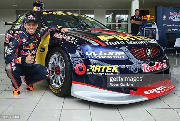 Casey Stoner driver for Red Bull Racing Australia poses for the media during the unveiling of Casey Stoner's Development Series V8 Supercar at...
