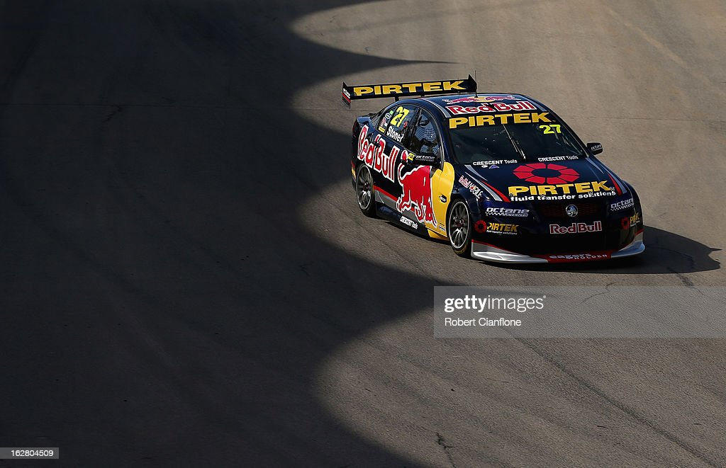 <a gi-track='captionPersonalityLinkClicked' href=/galleries/search?phrase=Casey+Stoner&family=editorial&specificpeople=563465 ng-click='$event.stopPropagation()'>Casey Stoner</a> drives the #27 Red Bull Pirtek Holden during practice for round one of the V8 Supercars Dunlop Development Series at the Adelaide Street Circuit on February 28, 2013 in Adelaide, Australia.