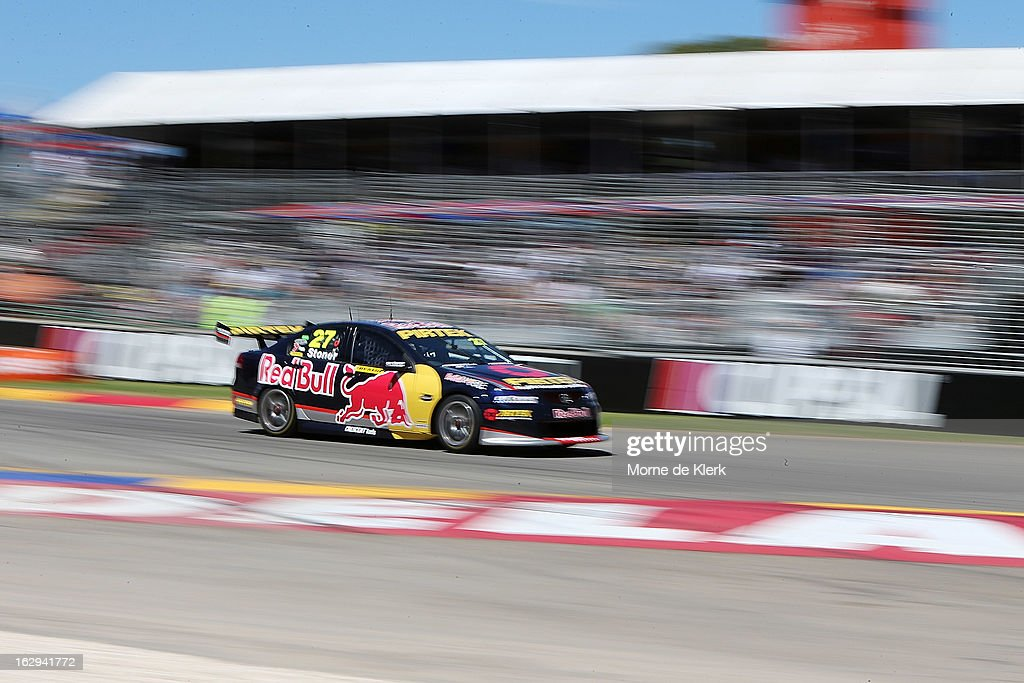 <a gi-track='captionPersonalityLinkClicked' href=/galleries/search?phrase=Casey+Stoner&family=editorial&specificpeople=563465 ng-click='$event.stopPropagation()'>Casey Stoner</a> drives the #27 Red Bull Pirtek Holden during race two of the V8 Supercars Dunlop Development Series at the Adelaide Street Circuit on March 1, 2013 in Adelaide, Australia.