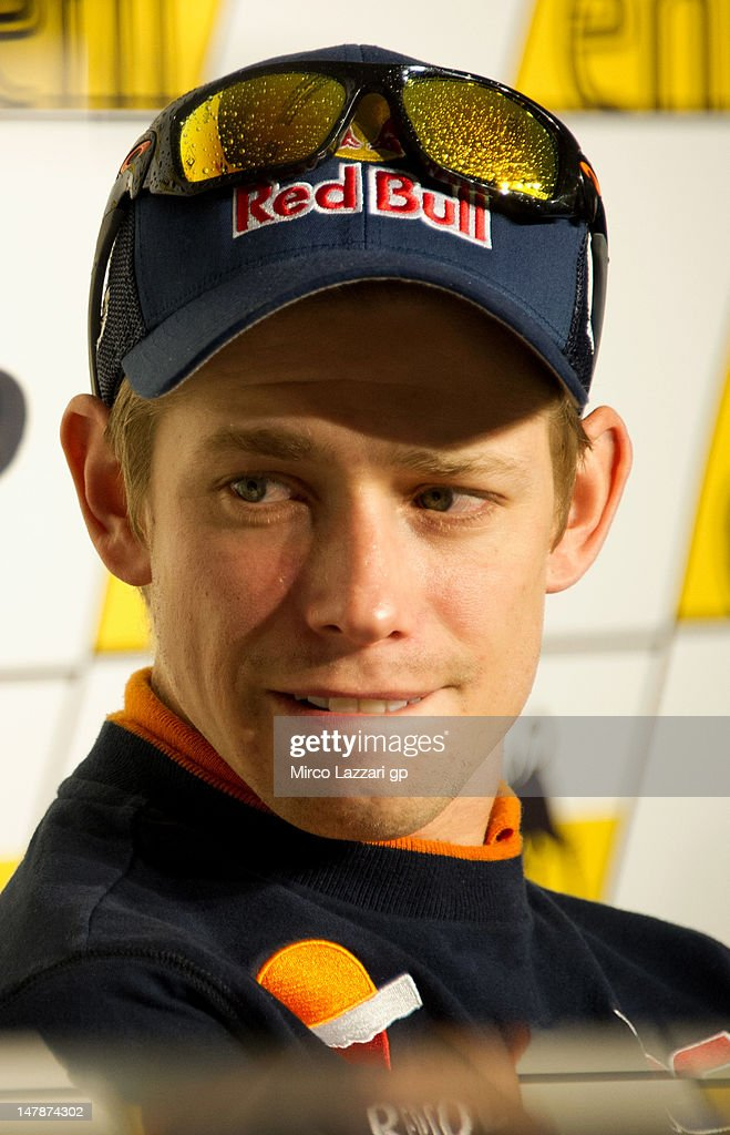 Casey Stoner of Australia and Repsol Honda Team looks on during the pre-event press conference before the MotoGp of Germany at Sachsenring Circuit on July 5, 2012 in Hohenstein-Ernstthal, Germany.
