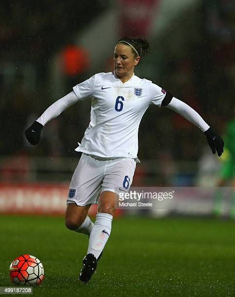 Casey Stoney of England during the UEFA Women's Euro 2017 Qualifier match between England and Bosnia and Herzegovina at Ashton Gate on November 29...