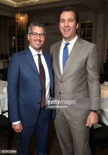 Casey Wasserman and Editorial Director of The Hollywood Reporter Matt Belloni attend The Hollywood Reporter Power Lawyers Breakfast 2017 at Spago on...