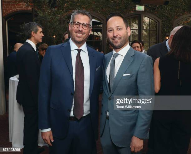 Casey Wasserman and Lloyd Balbier attend The Hollywood Reporter Power Lawyers Breakfast 2017 at Spago on April 26 2017 in Beverly Hills California