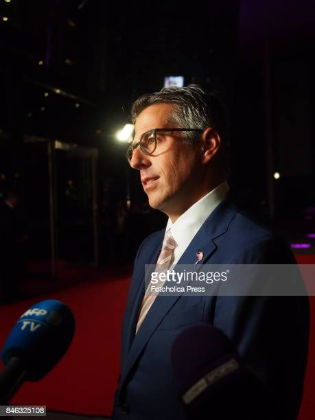 Casey Wasserman chairman of the LA28 bid on the red carpet of theat the Opening Ceremony of the International Olympic Committee IOC Session
