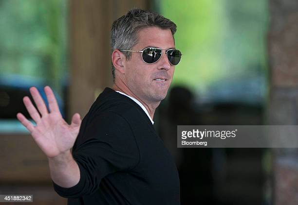 Casey Wasserman chief executive officer of Wasserman Media Group arrives at the Sun Valley Lodge ahead of the Allen Co Media and Technology...