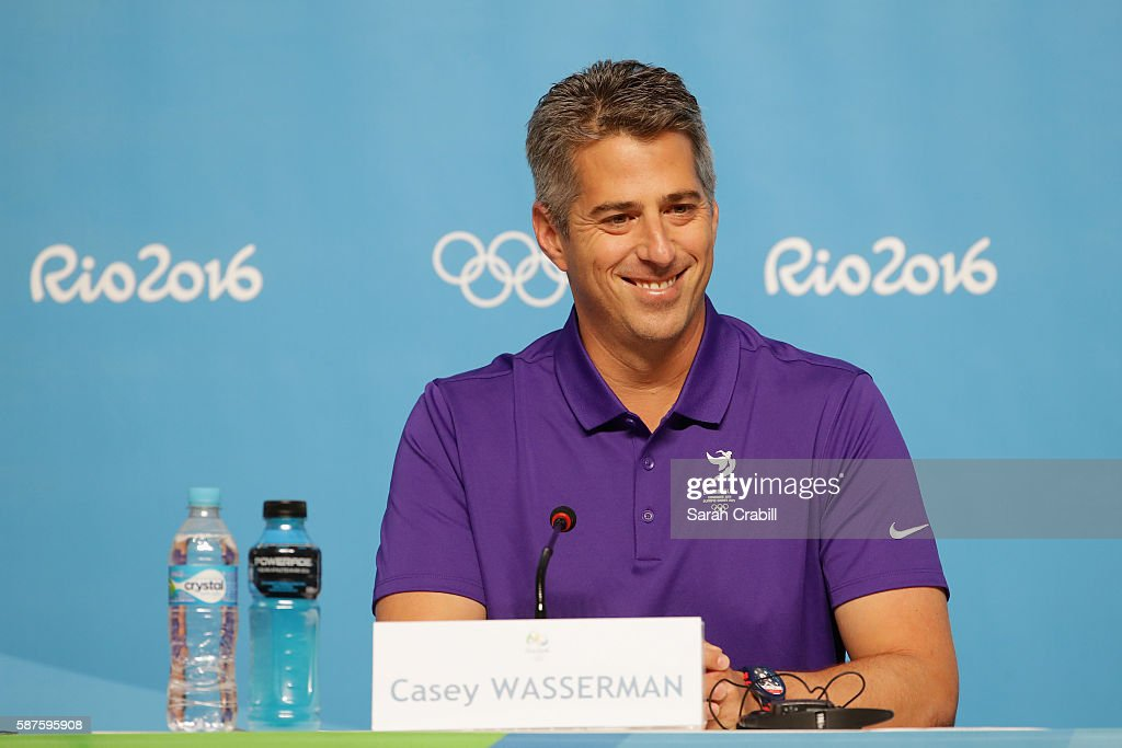Casey Wasserman speaks during a LA24 press conference on Day 4 of the Rio 2016 Olympic Games on August 9, 2016 in Rio de Janeiro, Brazil.