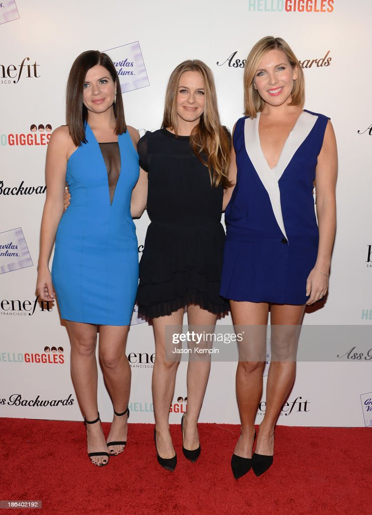 Casey Wilson, Alicia Silverstone and June Diane Raphael attend the premiere of Gravitas Ventures' 'Ass Backwards' at the Vista Theatre on October 30, 2013 in Los Angeles, California.
