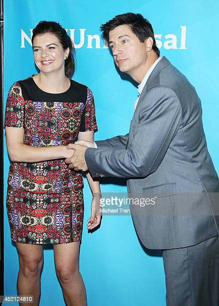 Casey Wilson and Ken Marino arrive at NBCUniversal's 2014 Summer TCA Tour Day 1 held at The Beverly Hilton Hotel on July 13 2014 in Beverly Hills...
