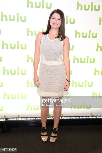 Casey Wilson attend Hulu's Upfront Presentation on April 30 2014 in New York City