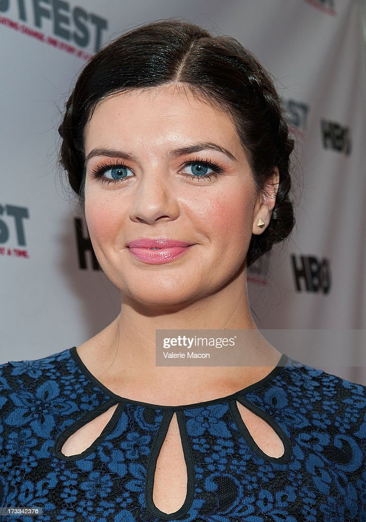 <a gi-track='captionPersonalityLinkClicked' href=/galleries/search?phrase=Casey+Wilson&family=editorial&specificpeople=4980510 ng-click='$event.stopPropagation()'>Casey Wilson</a> attends the 2013 Outfest Opening Night Gala Of 'C.O.G.' - Red Carpet at Orpheum Theatre on July 11, 2013 in Los Angeles, California.