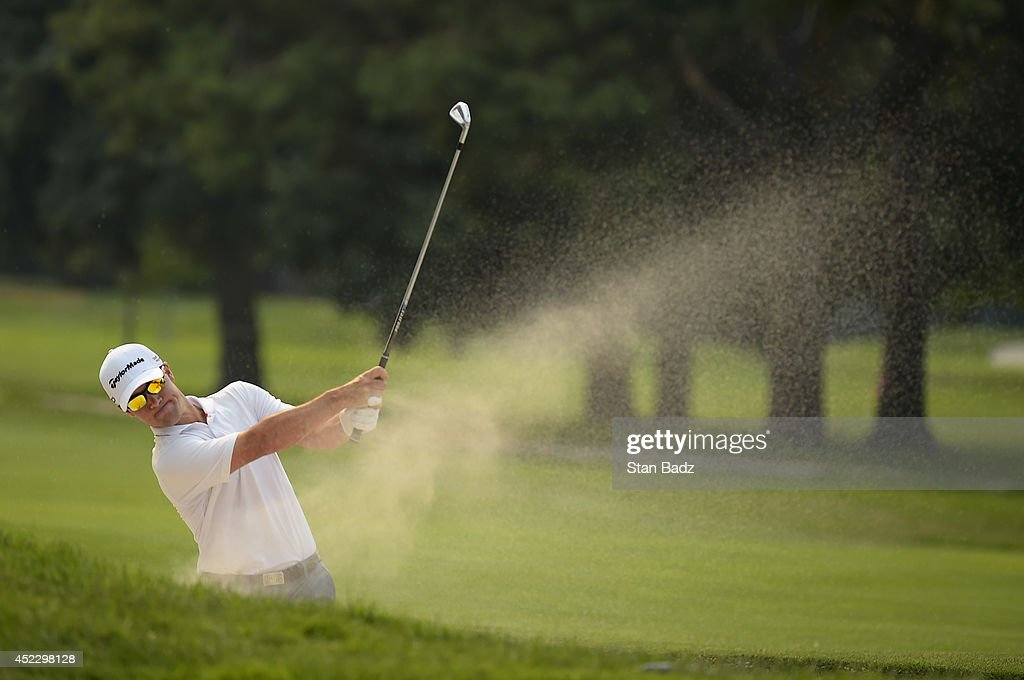 <a gi-track='captionPersonalityLinkClicked' href=/galleries/search?phrase=Casey+Wittenberg&family=editorial&specificpeople=201143 ng-click='$event.stopPropagation()'>Casey Wittenberg</a> hits from a bunker on the 16th hole during the first round of the Web.com Tour Albertsons Boise Open presented by Kraft Nabisco at Le Hillcrest Country Club on July 17, 2014 in Boise, Idaho.