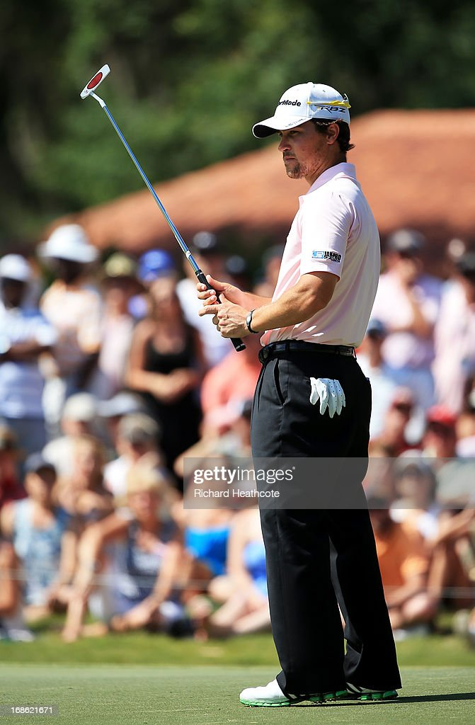<a gi-track='captionPersonalityLinkClicked' href=/galleries/search?phrase=Casey+Wittenberg&family=editorial&specificpeople=201143 ng-click='$event.stopPropagation()'>Casey Wittenberg</a> of the USA reacts to missing a putt on the seventh green during the final round of THE PLAYERS Championship at THE PLAYERS Stadium course at TPC Sawgrass on May 12, 2013 in Ponte Vedra Beach, Florida.