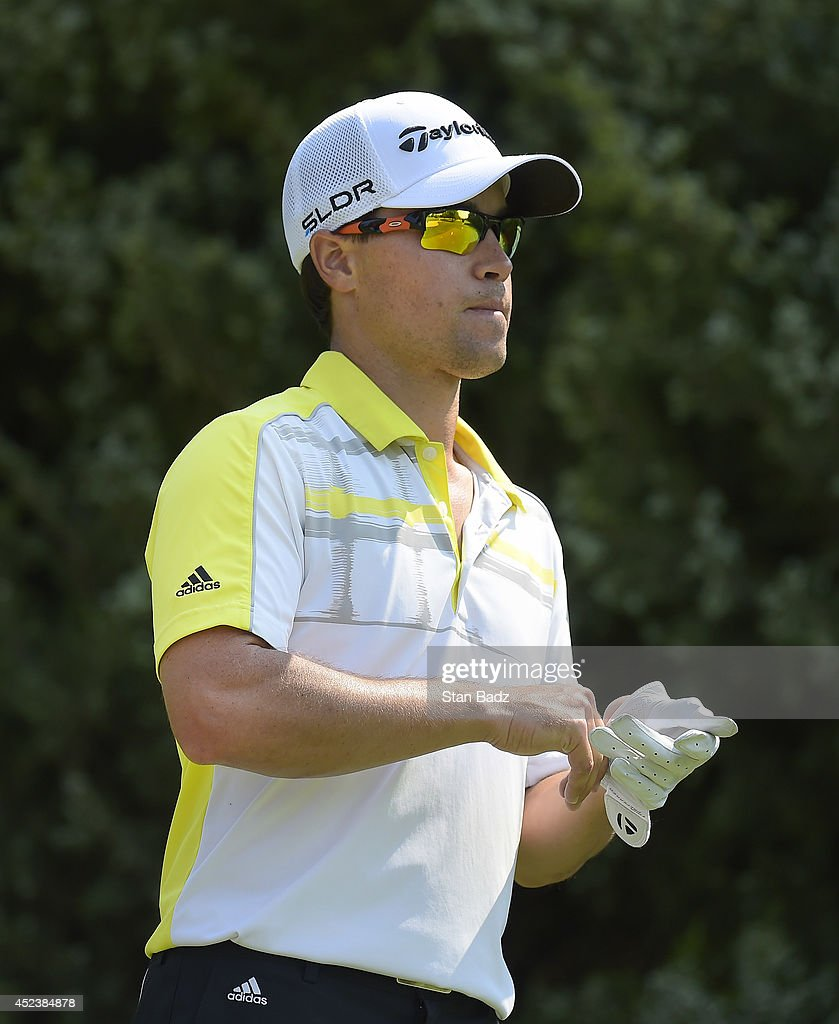 Casey Wittenberg watches play on the third hole during the second round of the Web.com Tour Albertsons Boise Open presented by Kraft Nabisco at Le Hillcrest Country Club on July 18, 2014 in Boise, Idaho.