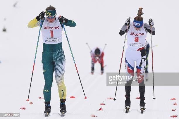 Casey Wright of Australia competes in the Women's Cross Country 14 km Individual Sprint Classical on day three of the 2017 Sapporo Asian Winter Games...