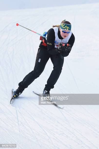 Casey Wright of Australia warms up before the Women's Cross Country 14 km Individual Sprint Classical on day three of the 2017 Sapporo Asian Winter...