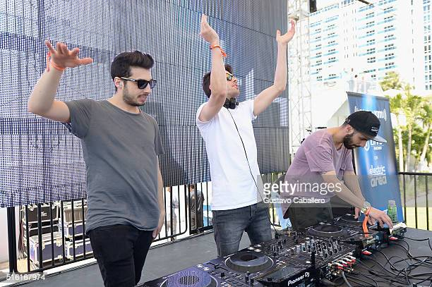 Cash Cash performs live at SiriusXM Celebrates 10th Anniversary Of The SiriusXM Music Lounge At 1 Hotel South Beach Leading Up To Ultra Music...