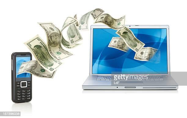 Bargeld von mobile für laptop