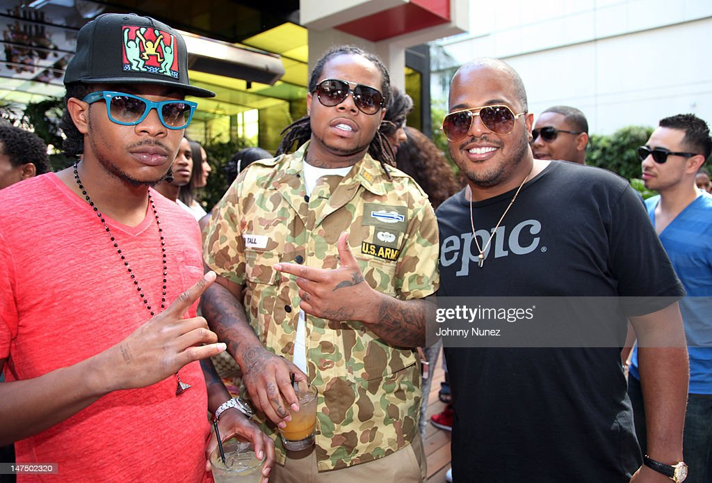 Cash Out, King Louie, and <a gi-track='captionPersonalityLinkClicked' href=/galleries/search?phrase=Tricky+Stewart&family=editorial&specificpeople=4315672 ng-click='$event.stopPropagation()'>Tricky Stewart</a> attend the Epic Records 'Epic Moment' Event at The Station Hollywood on June 30, 2012 in Hollywood, California.