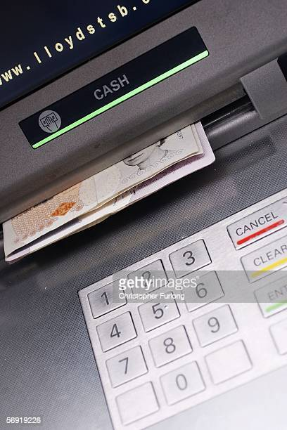 A cash point ATM machine is seen on 23 February in Manchester England In the wake of Britain's biggest cash robbery taking at least GBP25 million in...
