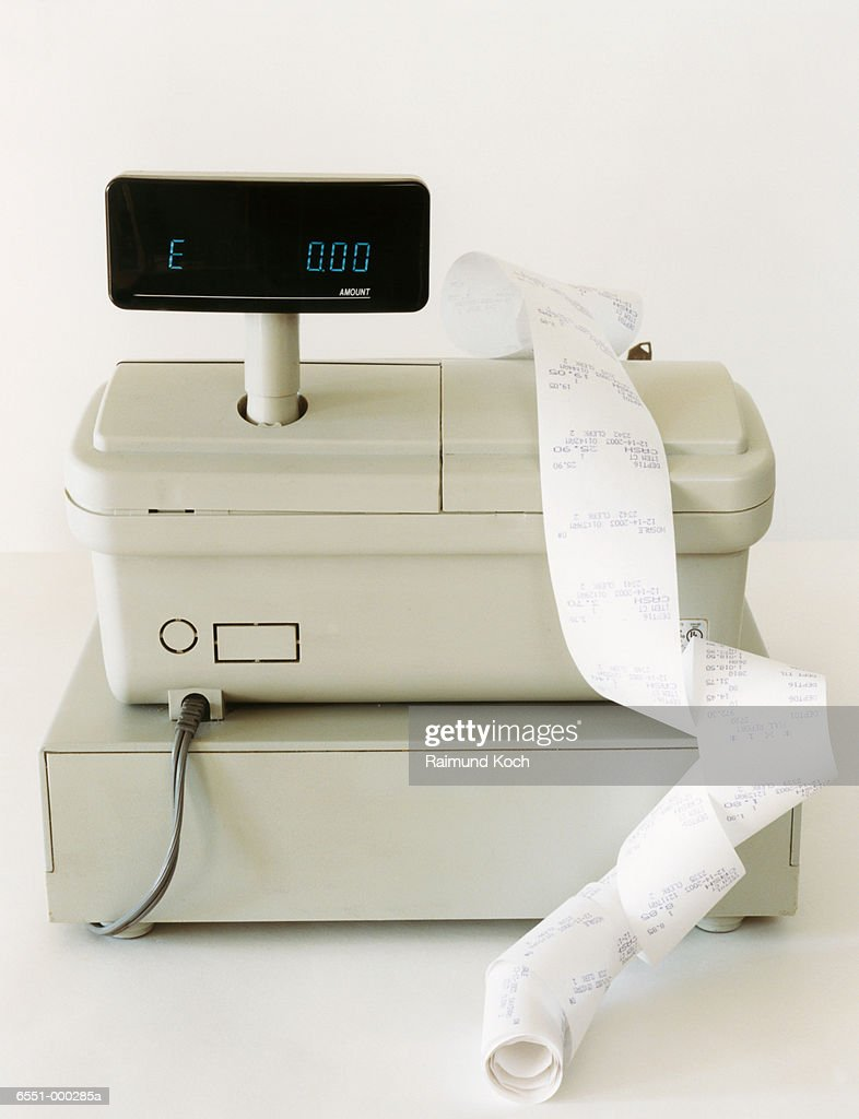 Cash Register and Receipts : Stock Photo