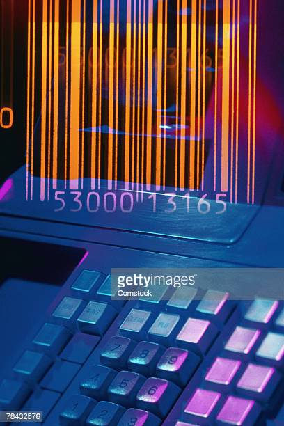 Cash register with UPC barcode