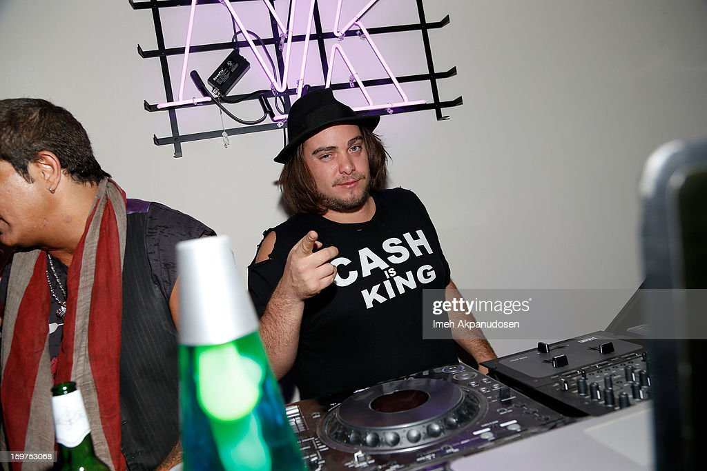 DJ Cash spins at 'The Lifeguard' after party on January 19, 2013 in Park City, Utah.