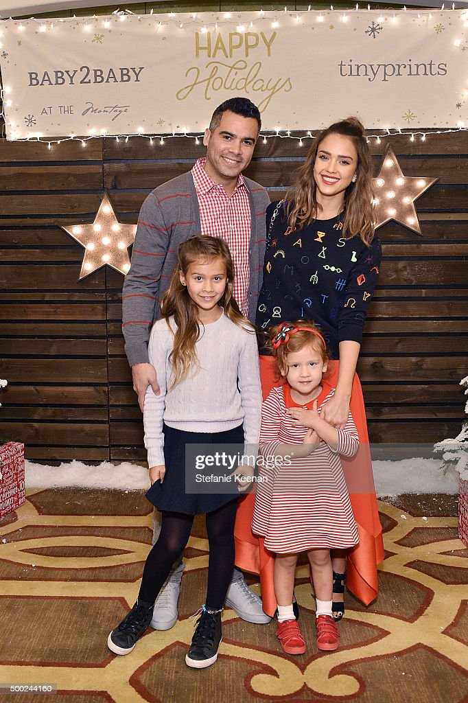 Cash Warren actress Jessica Alba Honor Marie Warren and Haven Garner Warren attend the Baby2Baby Holiday Party Presented By Tiny Prints At Montage...