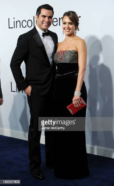 Cash Warren and actress Jessica Alba attend an evening with Ralph Lauren hosted by Oprah Winfrey and presented at Lincoln Center on October 24 2011...