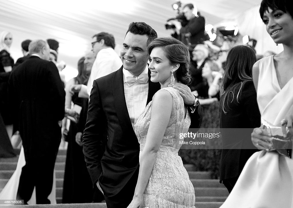 Cash Warren and actress Jessica Alba attend the 'Charles James Beyond Fashion' Costume Institute Gala at the Metropolitan Museum of Art on May 5 2014...