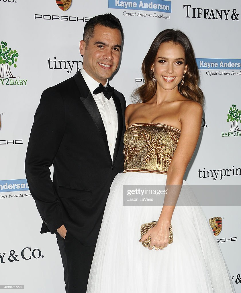Cash Warren and Jessica Alba attend the 2014 Baby2Baby gala at The Book Bindery on November 8 2014 in Culver City California