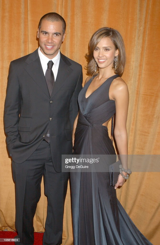 Cash Warren and Jessica Alba during The Weinstein Co/Glamour 2006 Golden Globe After Party Arrivals at Trader Vic's in Beverly Hills California...