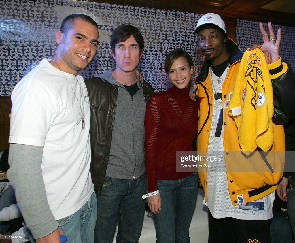 Cash Warren Dylan McDermott Jessical Alba and Snoop Dog *exclusive*