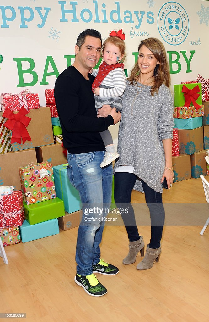 Cash Warren Haven Garner Warren and Jessica Alba attend the Third Annual Baby2Baby Holiday Party presented by The Honest Company on December 14 2013...