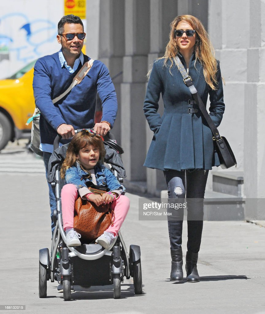 Cash Warren, Honor Warren and Jessica Alba as seen on May 5, 2013 in New York City.