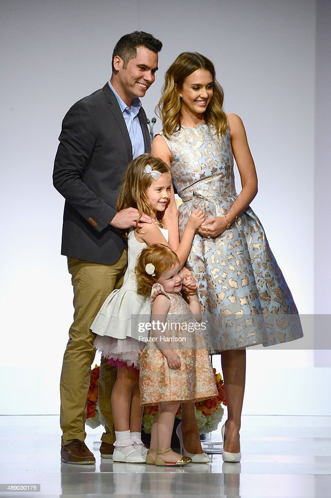 Cash Warren, Honor Warren, Haven Warren and Jessica Alba at The Helping Hand of Los Angeles Mother's Day Luncheon at The Beverly Hilton Hotel on May 9, 2014 in Beverly Hills, California.