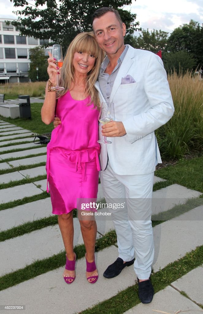 Casha Kellermann and husband Guido Kellermann attend the Norbert Dobeleit 50th birthday party at Stromberg Kutchiin on July 16, 2014 in Munich, Germany.