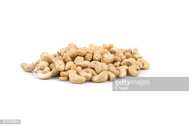 Cashew nuts close up