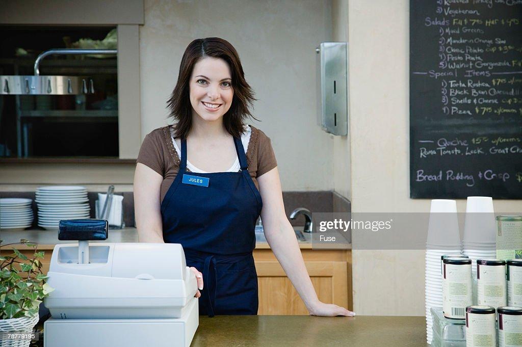 Cashier at Nursery Cafe