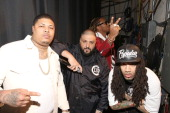 Casino DJ Khaled Future and DJ Esco visit 106 Park at BET studio on April 21 2014 in New York City