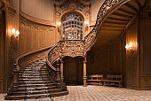Stairs in the Lviv ancient casino