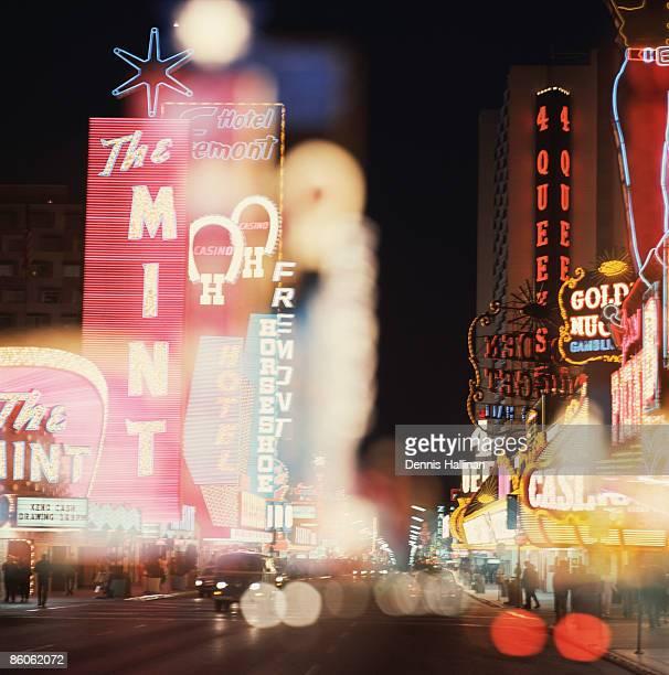 Casinos at night , Las Vegas , Nevada , USA
